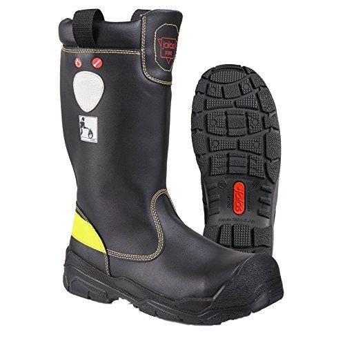 """Ejendals 1578–38–Taglia 38""""JALAS 1578–Fire Rescue Stivali di sicurezza, colore: nero/giallo"""
