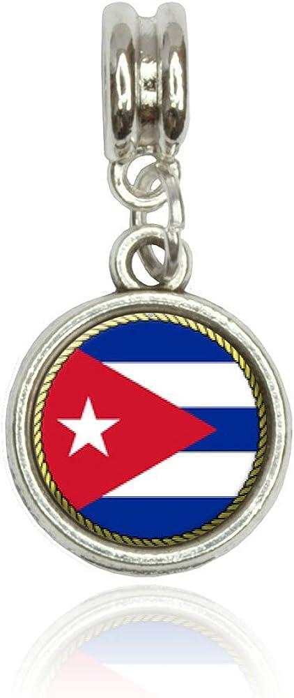Flag of Cuba Euro European Italian Style Bracelet Bead Charm