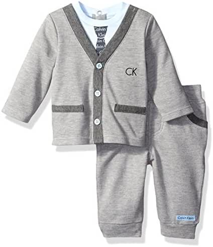 Calvin Klein Baby Boys' Cardigan with Pants Set