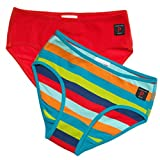 POLARN O. PYRET 2-PACK SOLID & STRIPED GIRL'S ECO BRIEFS - 2-4 years/Citronelle