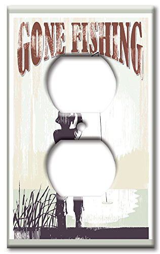 Art Plates Brand Electrical Outlet Wall / Switch Plate - Gone -