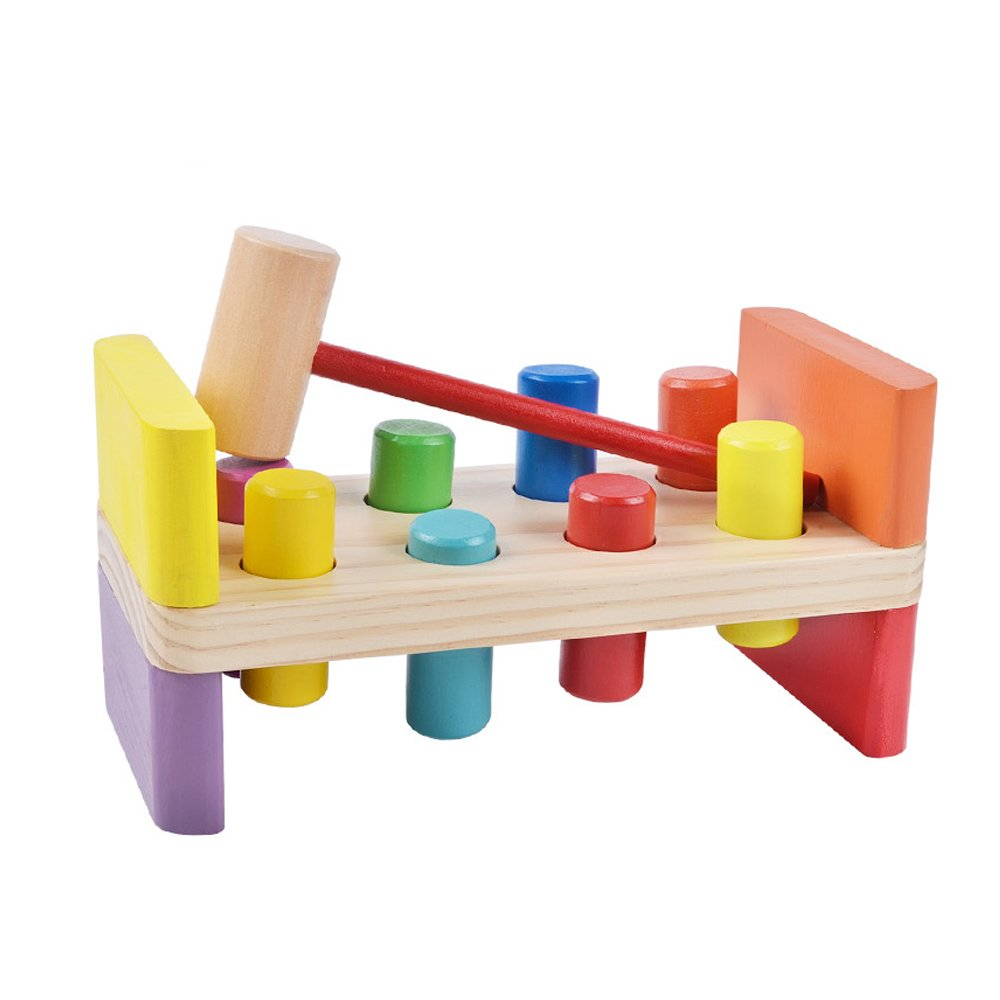 GYBBER&MUMU Colorful Educational Wooden Pounding Bench With Hammer