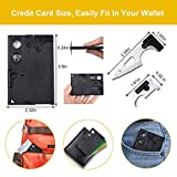 Upgraded Credit Card Tool Knife Set - Gifts for Men Multi-Tool Pocket Knife 2 Pack Set 18 in 1 Army Tactical Multi-Tool - Best Gifts for Dad, Mens Stocking Stuffers Survival Wallet With Blade, Compass