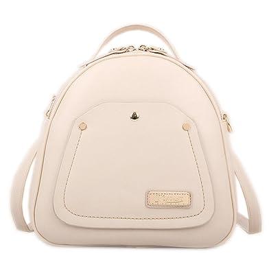 13e7e8e7f4 Catkit Vintage Womens Rivet Korea Style Tote Handbag Shoulder Backpack  Girls Street Bag Beige