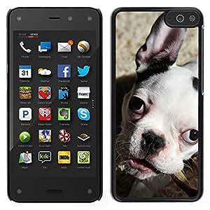 LECELL--Funda protectora / Cubierta / Piel For Amazon Fire Phone -- Bulldog Boston Terrier Puppy Dog --