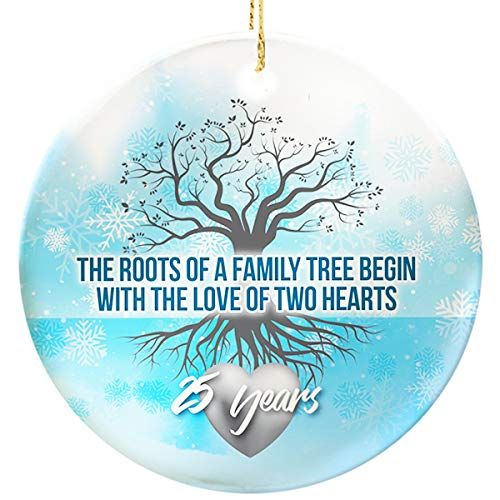 (Graphic Rhythm 25th Anniversary Ornament - Family Tree)