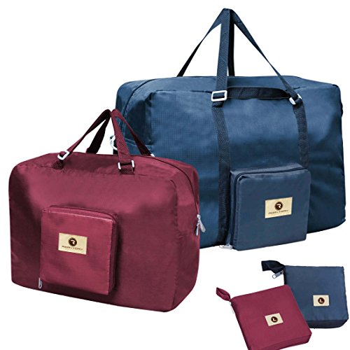 rorytory-2-pack-blue-burgundy-multi-purpose-travel-luggage-tote-organizer-bag