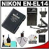 Nikon EN-EL14 Rechargeable Li-ion Battery with Cleaning Kit for Coolpix P7000, P7100 and D3100, D3200, D5100, D5200 Digital SLR Camera, Best Gadgets