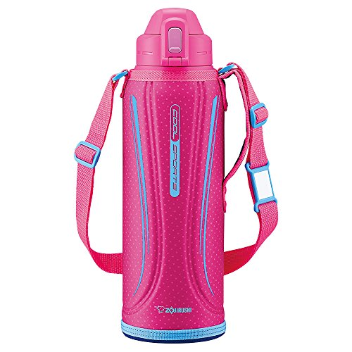 ZOJIRUSHI Stainless Steel Flask Sports Type Stainless Steel Cool Bottle 1.55L Vivid Pink SD-EC15-PV by Zojirushi