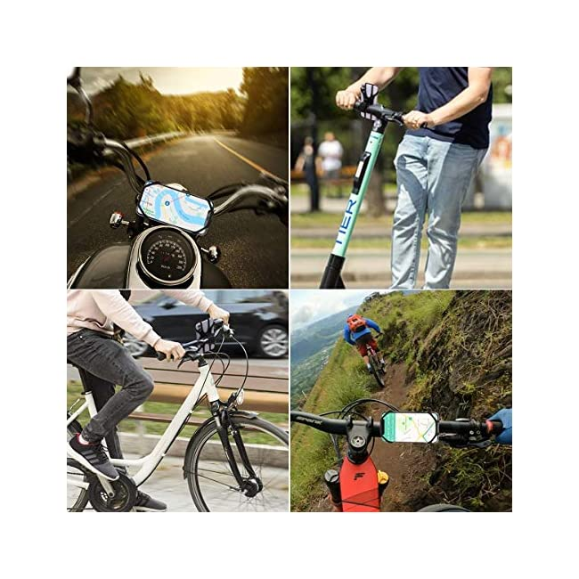 Bike Motorcycle Phone Mount - Detachable 360°Rotation Bike Phone Mount Holder with Face ID & Touch ID  Phone Holder for Bike Compatible with iPhone  Samsung Galaxy  Google Pixel and Android Phones