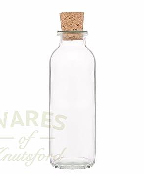 6 unidades 240 ml Aceite Botellas de cristal con corchos, de mensaje en una botella