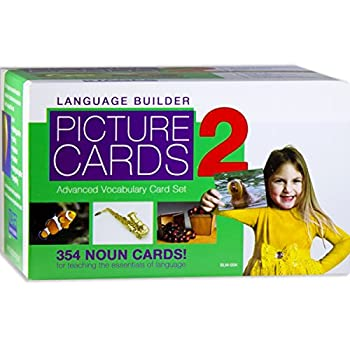 Image of Stages Learning Language Builder Picture Nouns Set 2 for Autism, Aba and Preschool Educational Vocabulary Flash Cards Baby