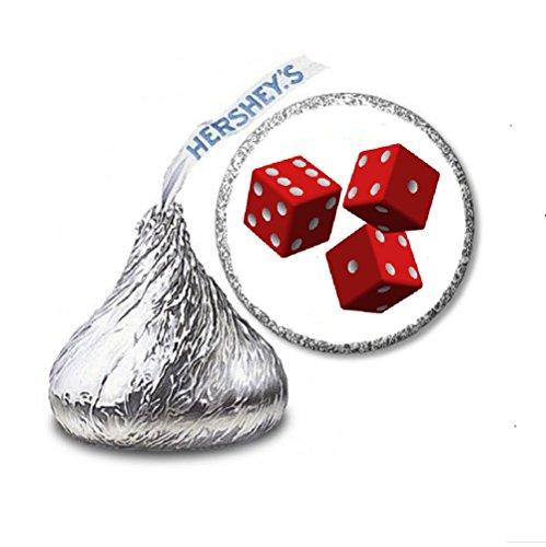 - 216 Casino Dice BUNCO Labels/Stickers for Hershey's Kisses Candies - Party Favors by JS&B Enterprises