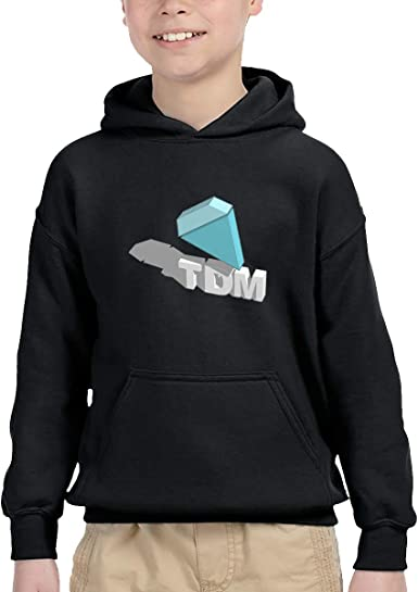 I Am with Team TDM Youth Hip Hop Pullover Hoodie Sweater with Kangaroo Pocket Hooded Sweatshirts