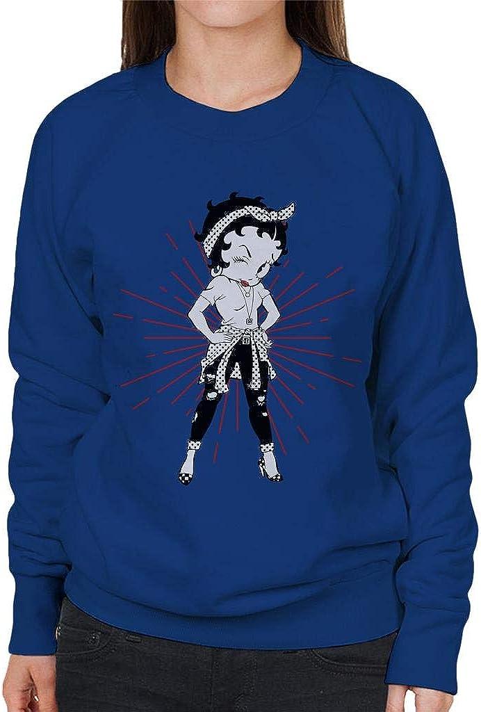 Comics Kingdom Betty Boop Modern Pose Womens Sweatshirt