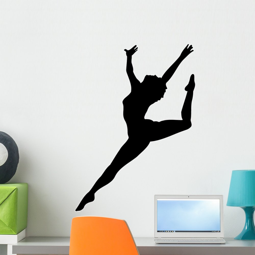 Wallmonkeys WM126023 Ballet Silhouette Style Black Wall Decal Peel and Stick Graphic (24 in H x 18 in W)
