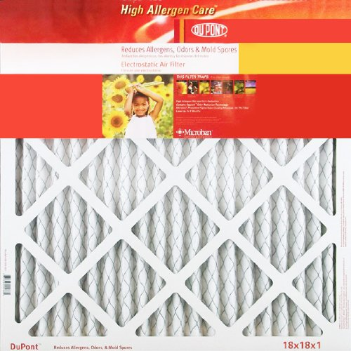 20x22x1 Dupont High Allergen Care MERV 11 Air Filters (4 Pack)