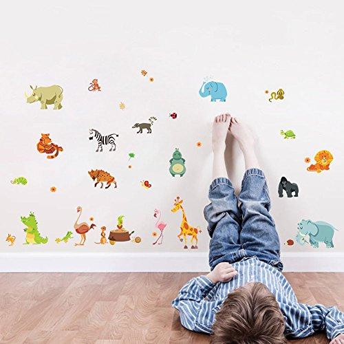 Little Animals Vinyl DIY Wall Stickers Mural Home Decor Kids Room Nursery Decal