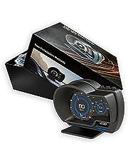 HUD AP-6 Car HUD Head Up Display OBD+GPS Speedometer Smart Gauge with LCD Screen Display ECU Computer Data for Universal Vehicle l Model