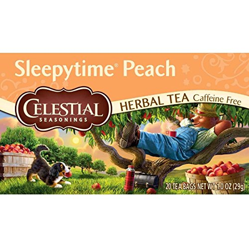 Celestial Seasonings Herbal Tea, Sleepytime Peach, 20 Count (Pack Of 6)