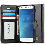 J&D Case Compatible for Moto Z2 Force Edition/Moto Z2 Force Case, [Wallet Stand] [Slim Fit] Heavy Duty Shock Resistant Flip Cover Wallet Case for Motorola Moto Z2 Force Edition Wallet Case - Black
