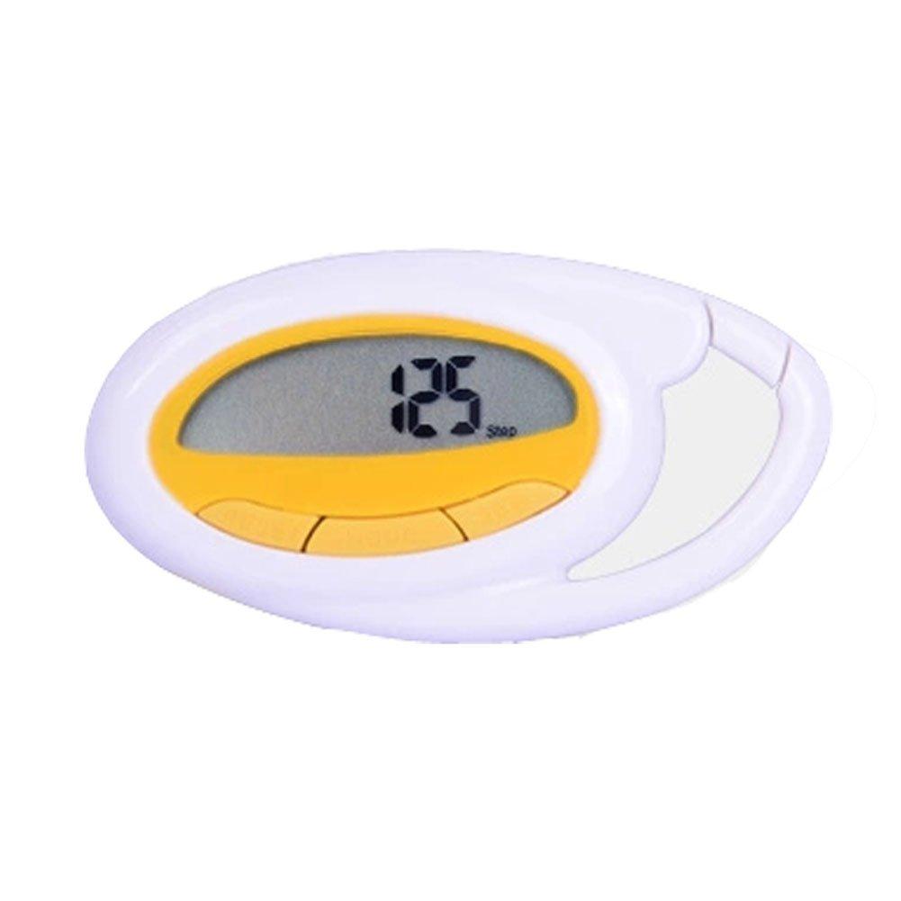 [ホワイト] Iスポーツ多機能カロリーpedometer-step / Kcal /距離カウンタ B00KIIXLZA