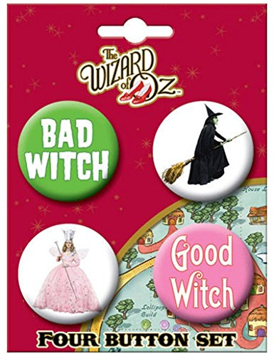 [Ata-Boy Wizard of Oz Good Witch Bad Witch Set of 4 1.25