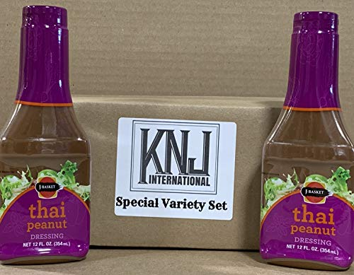 J-basket THAI Peanut Dressing 12oz by KNJ International (Pack of 2) (Best Thai Salad Dressing)