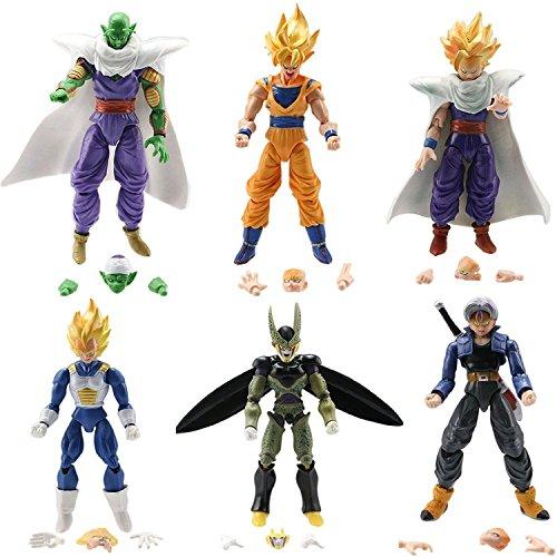 "KAKALIN Dragon Ball Z 6pcs/Set 5"" Figures: Piccolo Cell Trunks Super Saiyan Goku Gohan Vegeta"