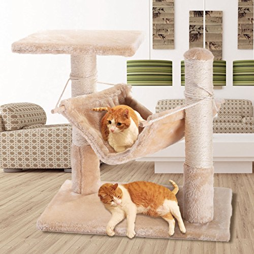 18″ Deluxe Cat Tree Condo Furniture Scratching Post Pet House Pet Play Toy