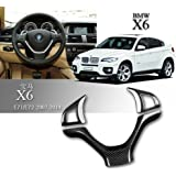 Carbon Fiber Steering Wheel Cover for BMW X6 E71 2009-2013 (A)