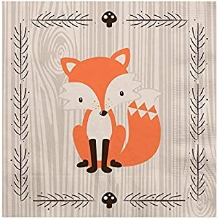 product image for Big Dot of Happiness Woodland Creatures - Baby Shower or Birthday Party Luncheon Napkins (16 Count)