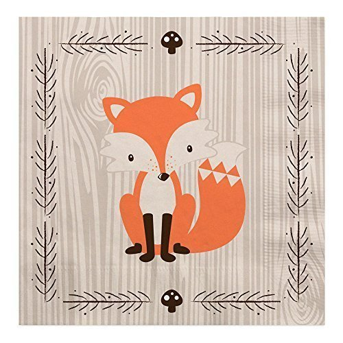 Big Dot of Happiness Woodland Creatures - Baby Shower or Birthday Party Luncheon Napkins (16 Count) -