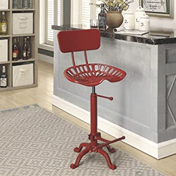 Amazon Com Farmhouse Tractor Seat Stool With Backrest