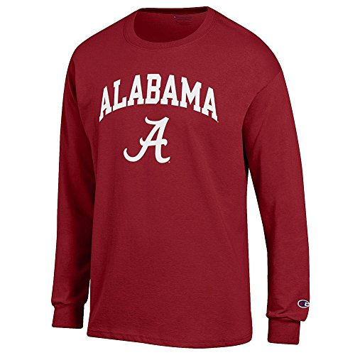 Elite Fan Shop Alabama Crimson Tide Long Sleeve Tshirt Varsity - L