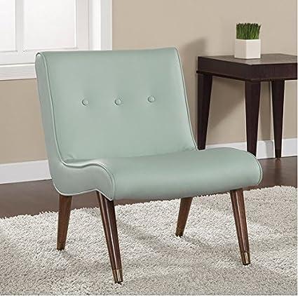 Amazon.com: Mid-century Living Room Upholstered Comfy Aqua ...