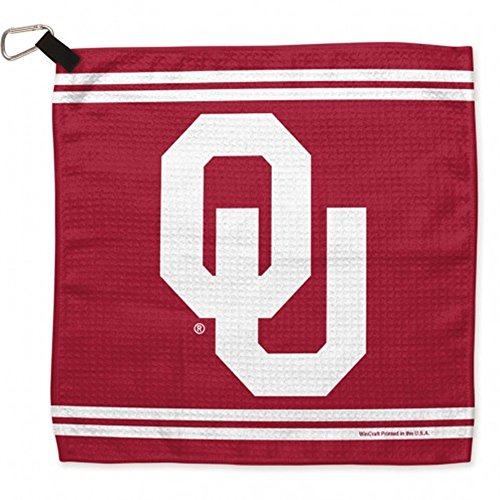 (WinCraft NCAA University of Oklahoma Waffle Towels, 13 x 13, Black)
