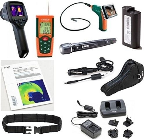 FLIR 64501-HIP Home Inspection Pro Package; Includes: Thermal Imaging Camera, Video Borescope/Wireless Inspection Camera, Laser Distance Meter, Tools+ Scratchcard and Voltage (NCV) Detector/Flashlight