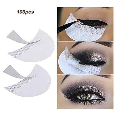 LKE 100 Pcs Eyeshadow stencils Professional Lint Free Under Eye Eyeshadow Gel Pad Patches For Eyelash Extensions/Lip Makeup