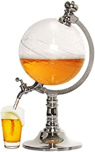 JIAWANSHUN 115OZ Globe Beer Tower Dispenser Spherical Beverage Dispenser Drink Tower for Bar Home Party (3.5L)