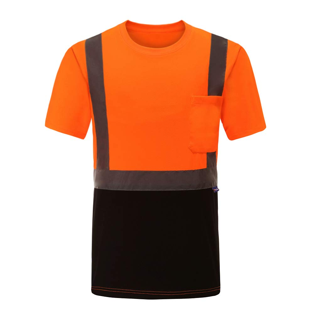 Hi Vis T Shirts ANSI Class 2 Reflective Safety High Visibility Short Sleeve Shirts