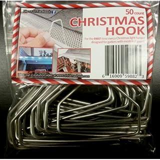christmashook 1050 original christmas light hanger metal hook 50 count