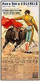 Spain - Plaza de Toros de Valencia - (artist: Reus c. 1960) - Vintage Advertisement (36x54 Giclee Gallery Print, Wall Decor Travel Poster)