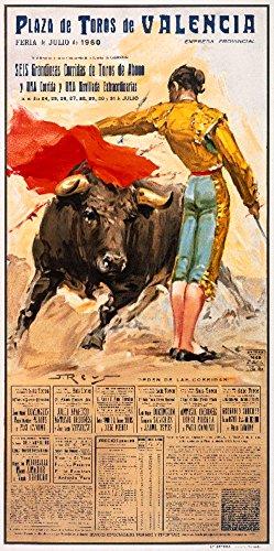 Plaza de Toros de Valencia - 1960 Vintage Poster (artist: Reus) Spain c. 1960 (12x18 Art Print, Wall Decor Travel Poster) by Lantern Press