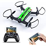 Flytec T18 RC Quadcopter Drone FPV 2.4Ghz 4CH 6-Axis Gyro with HD Wifi Camera & One Key Return & 3D Flips Mobile App Racing Quadcopter Compatible with VR Headset for Beginner (Green)
