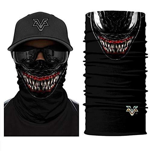 Headband Headwears Bandana Headscarf Venom Face Spider Masks Scarfs Movie Cosplay Scarf Mask Tube Neck Full Lower Half Shield Sun Hiking No.224