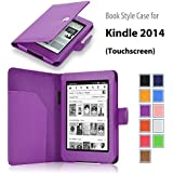 """Elsse For Kindle 6"""" Glare Free - Folio Case Cover for Kindle (7th Generation), Purple - will not fit previous generation Kindle devices"""