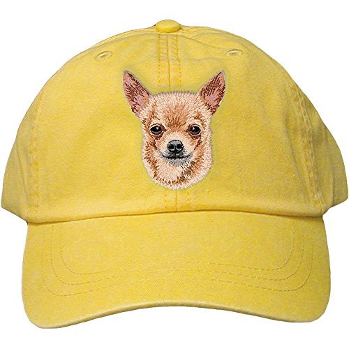 Cherrybrook Dog Breed Embroidered Adams Cotton Twill Caps - Lemon - ()