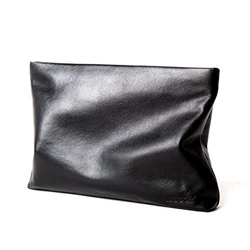 Genuine Leather Envelope Clutch Bag Business Portfolio Briefcase for Men Black by Sturdybags (Image #1)