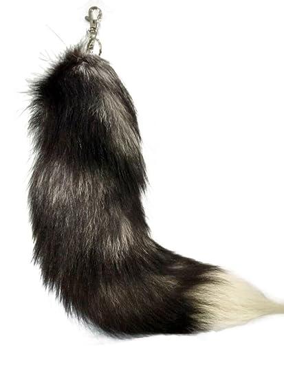 Amazon.com: Alta calidad Fluffy Real Fox Piel Sintética Tail ...